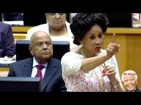 Shouting And Pointing Fingers At Jacob Zuma In Parliament.