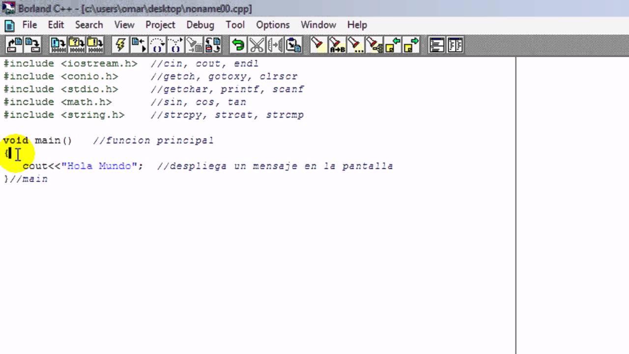 Tutorial De C 1 Estructura Basica De Un Programa Youtube