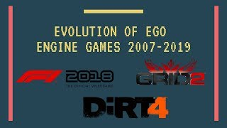 Evolution of Ego Engine Games 2007-2019