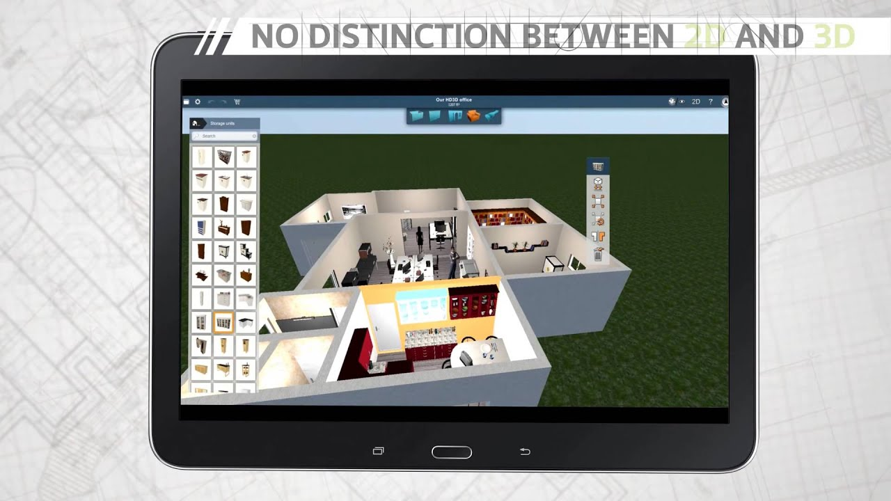 Home design 3d android version trailer app ios android for Home plans 3d designs