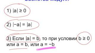 Модуль числа. Решение уравнений по определению модуля