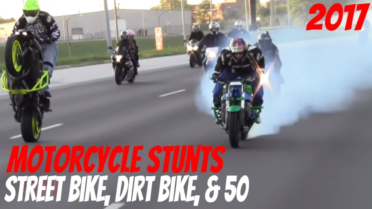extreme motorcycle stunts on streets 2017 street bike dirt bike 50 stunt bikers drift. Black Bedroom Furniture Sets. Home Design Ideas
