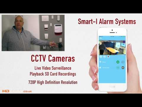 Smartphone (IOS & Android) Wireless Burglar Alarm System with live notifications & CCTV