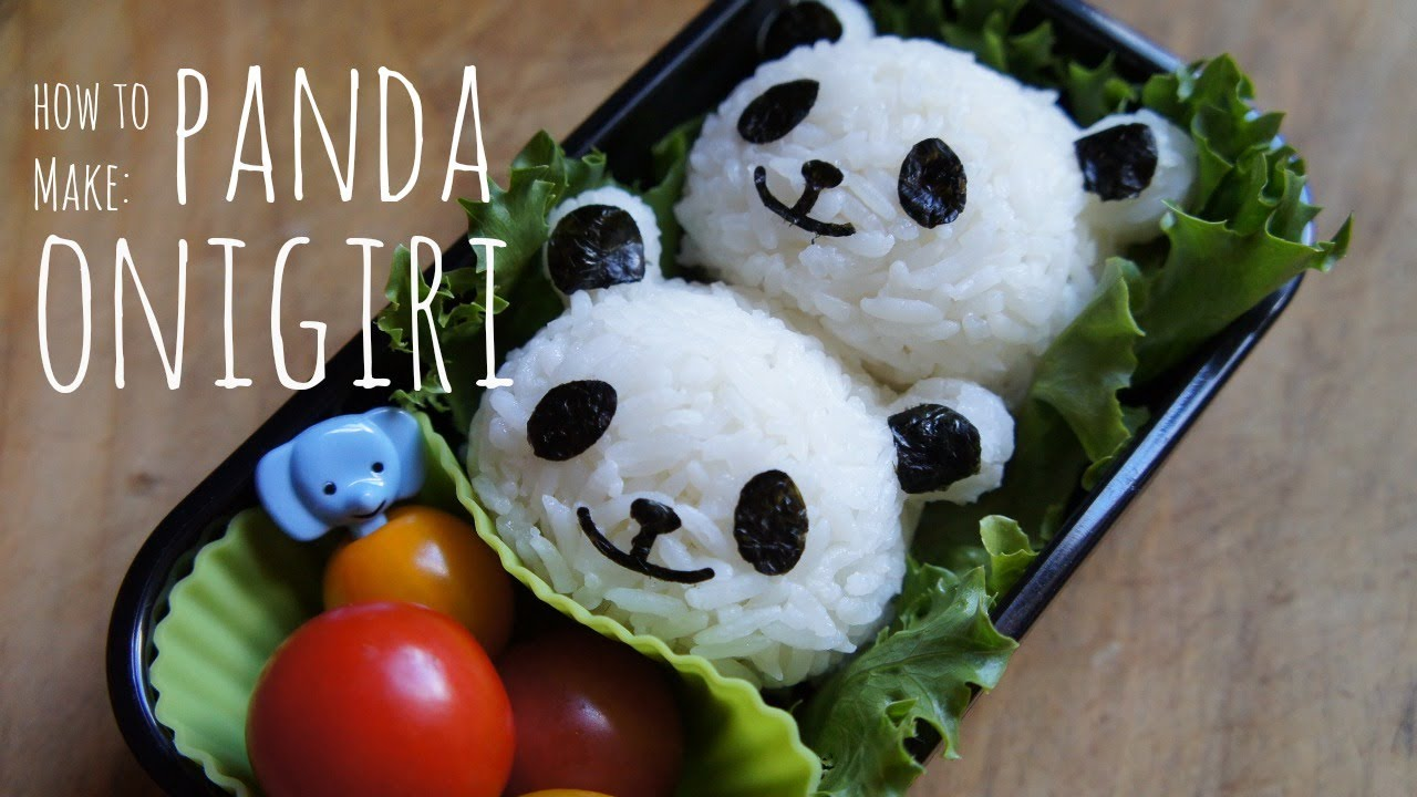 Onigiri Cute Wallpaper How To Make Cute Panda Onigiri Youtube