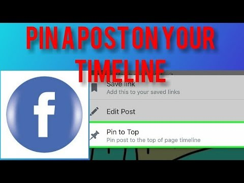 How to pin post on Facebook page using mobile - YouTube