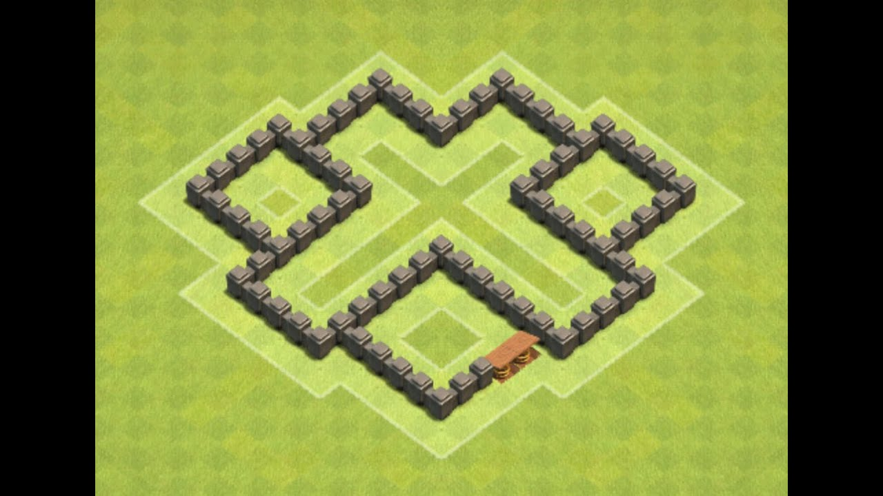 Coc Th 4 Best Defence Base 6