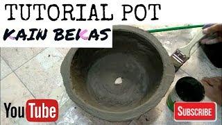 Membuat Pot Adenium dari Kain Bekas