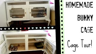 HOMEMADE | Bunny Cage Tour!