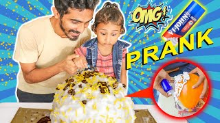 BALLOON CAKE PRANK on Bro SHAVING CREAM 🤪🎂