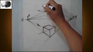 Dibujar a dos puntos de fuga - perspectiva - dibujo básico, tips,consejos, arte