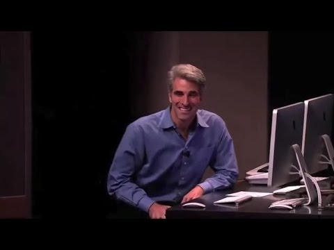 The Nervous Craig Federighi S Back To The Mac Presentation For Apple Youtube