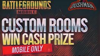 Pubg Mobile custom room live with hj dushman | INSHORT VIDEO | CASH PRIZE 😍