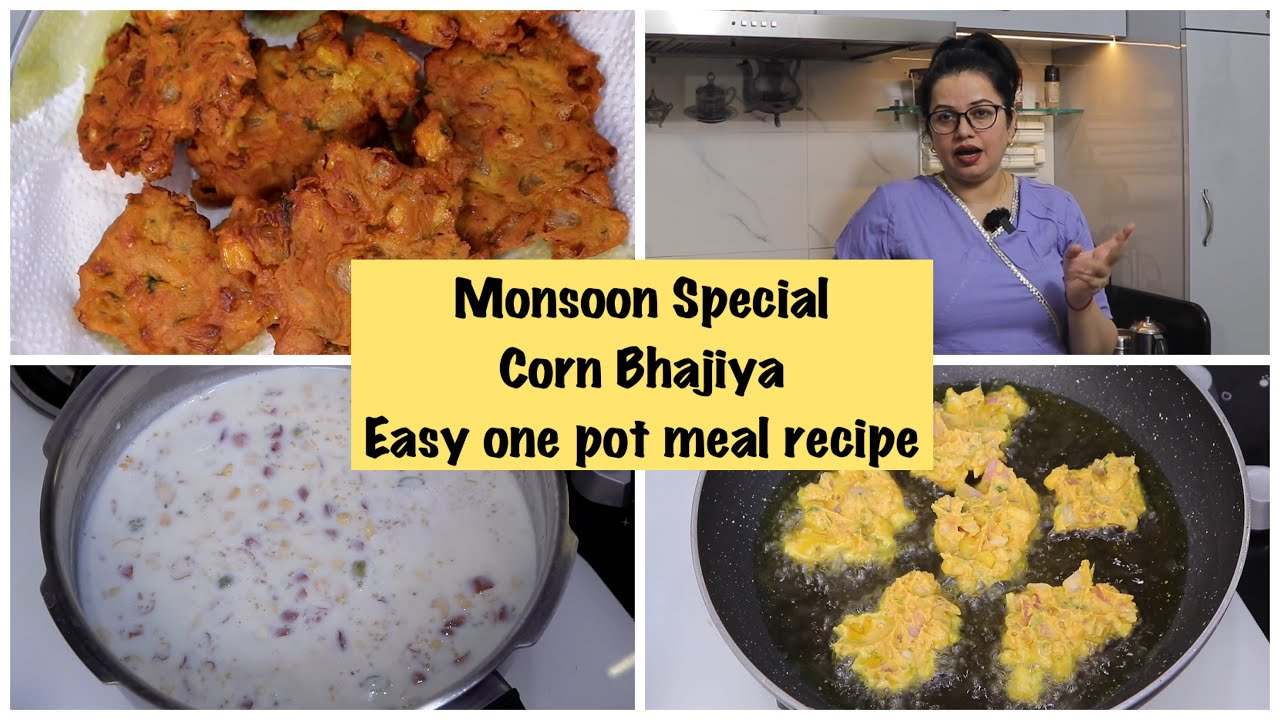 New Kitchen Useful Products in Budget | Monsoon Special Corn Pakoda Recipe | onepot meal | vlogs
