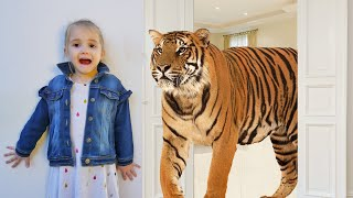 Learn Animals with Hanna and her Sister | Hanna Story Let's Go to the ZOO by Chu Chu Ua