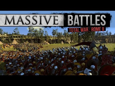 Total War: Rome 2 Empire Divided - Triple Layered Siege of Medhlan (Massive Battles)
