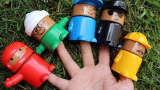 Finger family songs with colourful toys