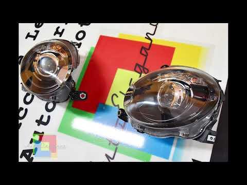 FIAT 500 2007 IN POI FARI ANTERIORI NERI DESIGN ABARTH LENTICOLARI