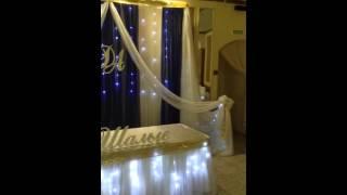 Украшение свадьбы сине белое.