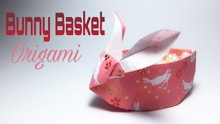BUNNY BASKET ORIGAMI TUTORIAL !