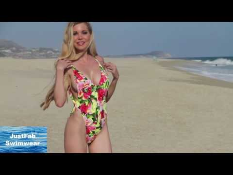 d927758848 High Cut Floral One Piece Swimsuit - YouTube