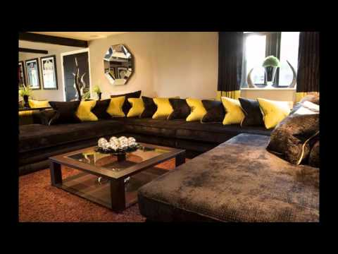 Cool Brown sofa living room ideas