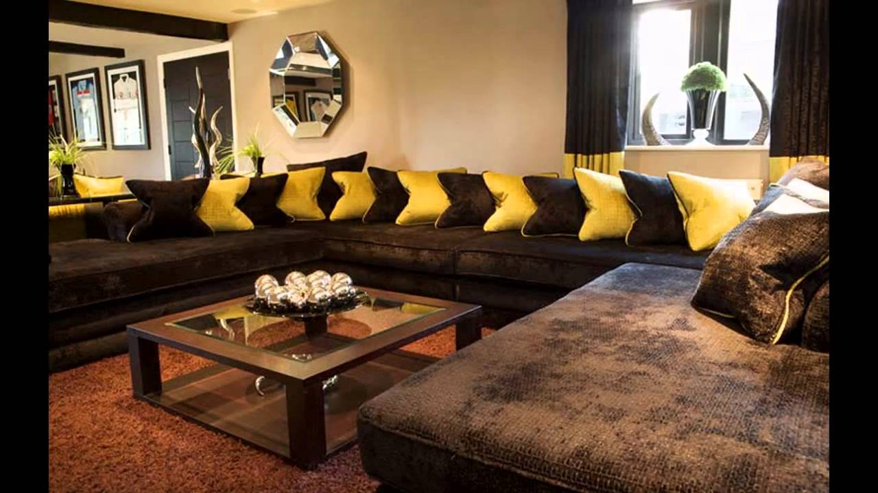 Cool Brown sofa living room ideas - YouTube
