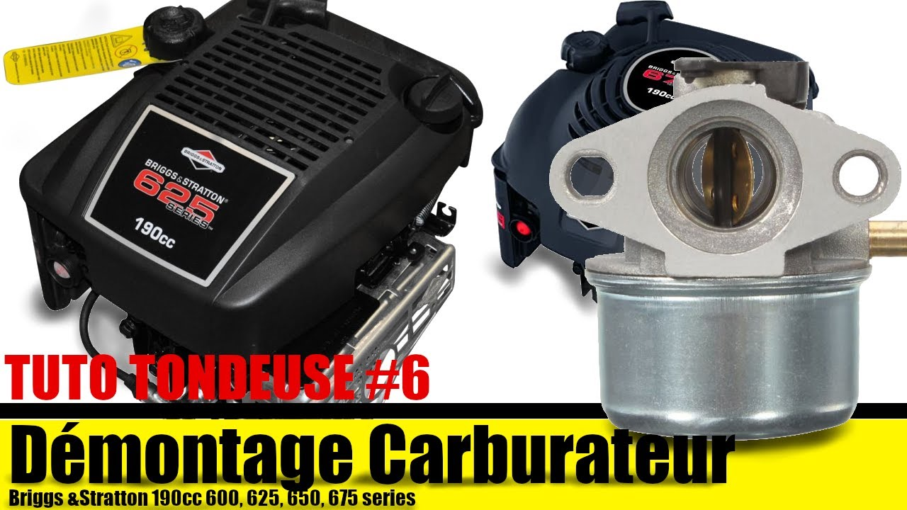 d montage carburateur briggs stratton youtube. Black Bedroom Furniture Sets. Home Design Ideas