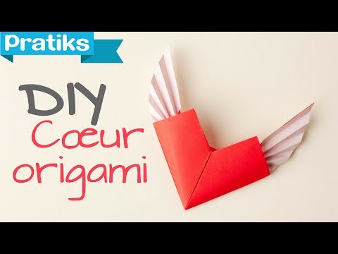 comment faire un c ur en origami youtube. Black Bedroom Furniture Sets. Home Design Ideas