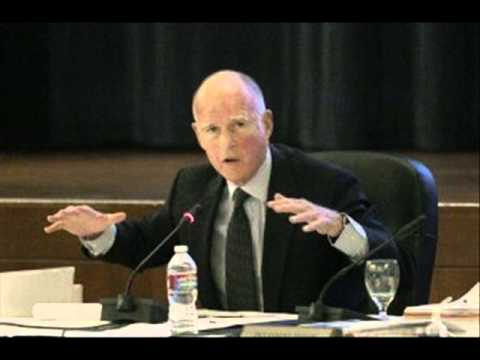 Gov. Jerry Brown at University of California Regents on Online Education & Budgets, 11-14-2012