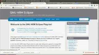 Getting started ARM cortex M4 STM32 with Eclipse in Linux (1/2)