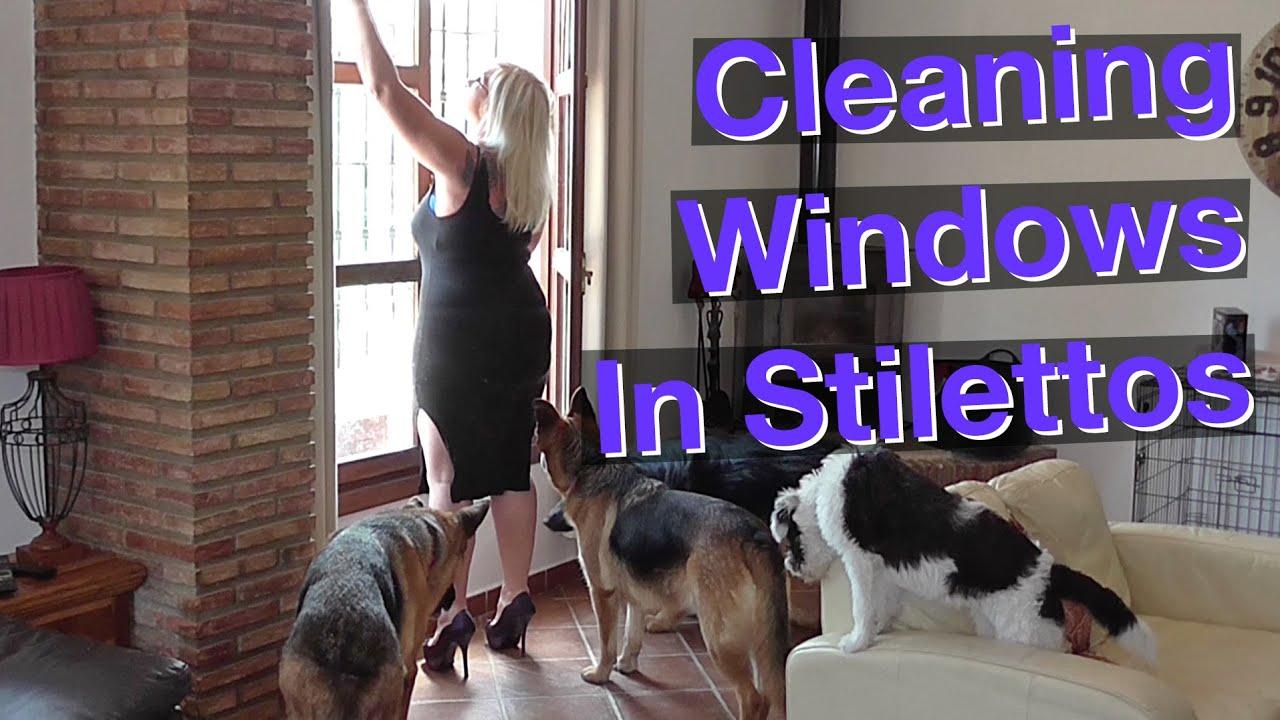 Cleaning Windows In Stilettos
