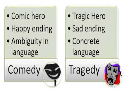 Greek Tragedy and Greek Comedy(comparison and contrast)