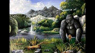 How to Draw King Kong - Draw Fantasy Art - King Kong vs T-REX
