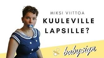 Babysign alkeet (viittomia vauvalle sarja alkaa)