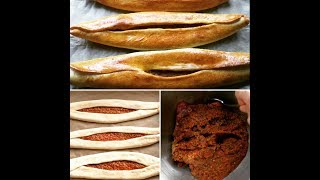 Delicious Turkish Pide Sandwiches With Minced Meat... how to make it video recipe