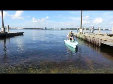 motoring solo skiff