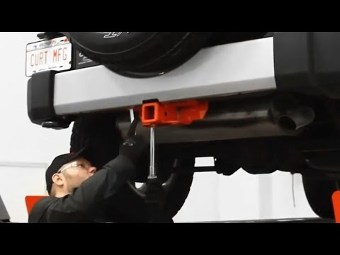 Curt Trailer Hitch Installation on Jeep Wrangler YouTube
