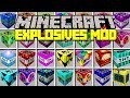 Minecraft EXPLOSIVES + MOD! | MOST POWERFUL TNT, SUPER NUKES, & MORE! | Modded Mini-Game