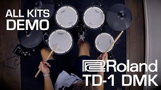 Roland TD-1DMK electronic drum kit playing all kits sound demo