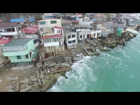 Руины Черноморска, дома уходят под воду