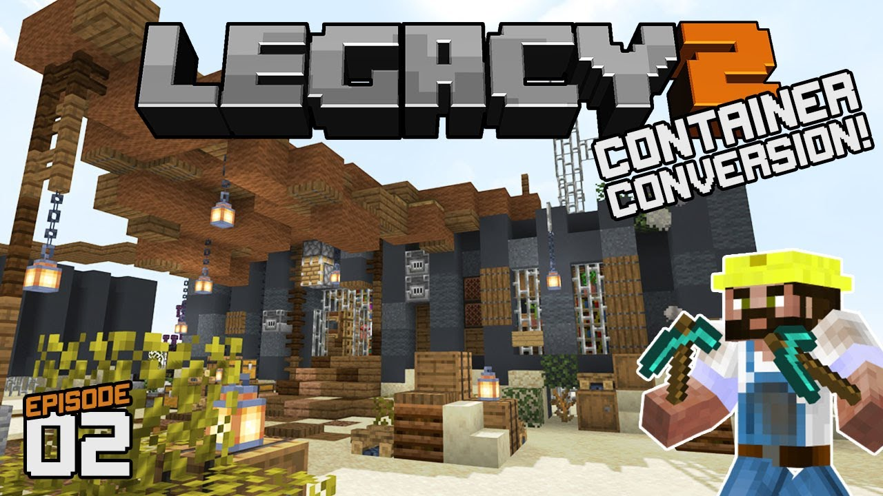 Shipping Container house!| Legacy SMP Season 2 [02] | Java Minecraft SMP