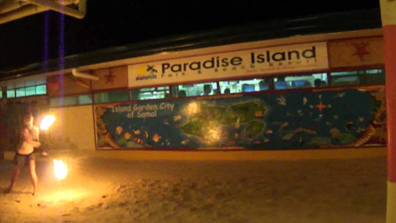 The Spiral Fire Dancer. Paradise Island, Samal City Davao - YouTube