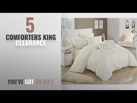 top-10-comforters-king-clearance-[2018]:-chic-home-10-piece-hannah-pinch-pleated,-ruffled-and