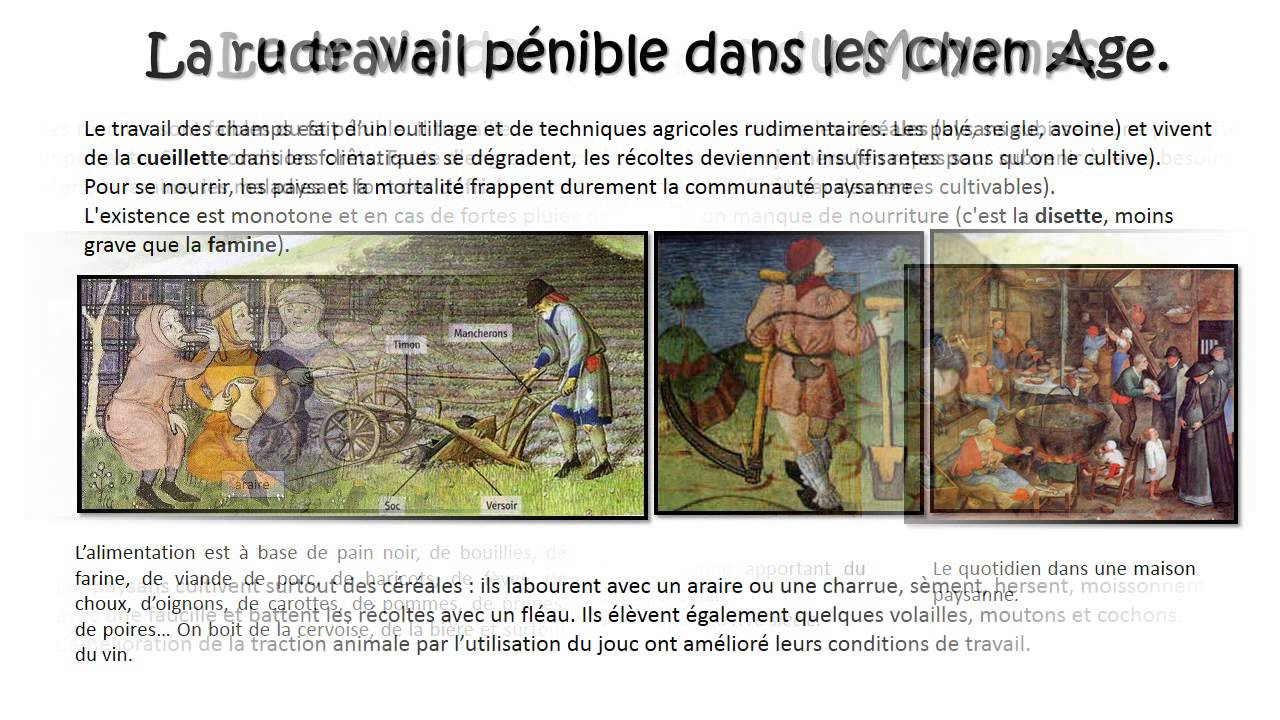 Célèbre Vie des paysans au Moyen Age – Cm1 – Diaporama – TBI - YouTube UC62