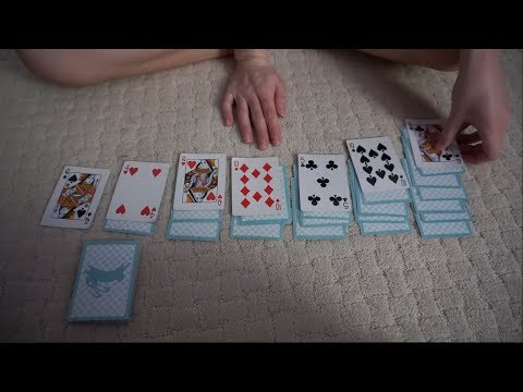 [ASMR] Solitaire Card Game