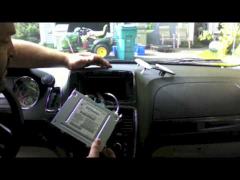 Chr-550 Lockpick Install On 2012 Dodge Grand Caravan Dvd In Motion And More