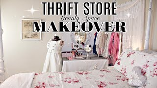 💗DIY THRIFT STORE MAKEOVERS💗TRASH TO TREASURE/DOLLAR TREE CURTAIN ROD BEDROOM BEAUTY SPACE UPCYCLE
