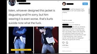 Fans are not happy with SHINee Jonghyun's stylist for giving him a jacket with Kurt Cobain's suicide