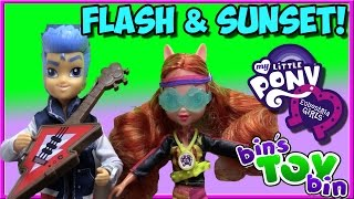 Flash Sentry Kmart Exclusive & Sporty Style Sunset Shimmer Equestria Girls Review by Bin
