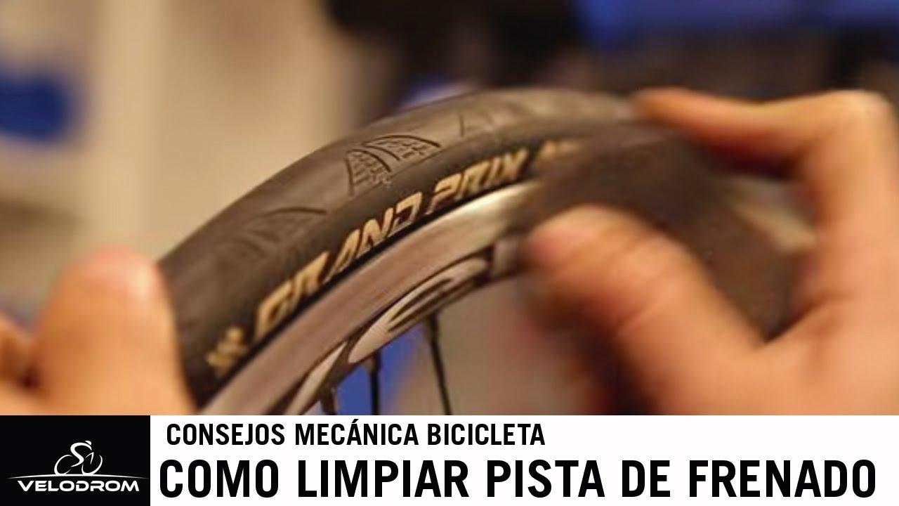 Como limpiar la pista de frenado de tu bicicleta de carretera - YouTube